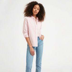 Everlane Japanese oxford shirt pale pink